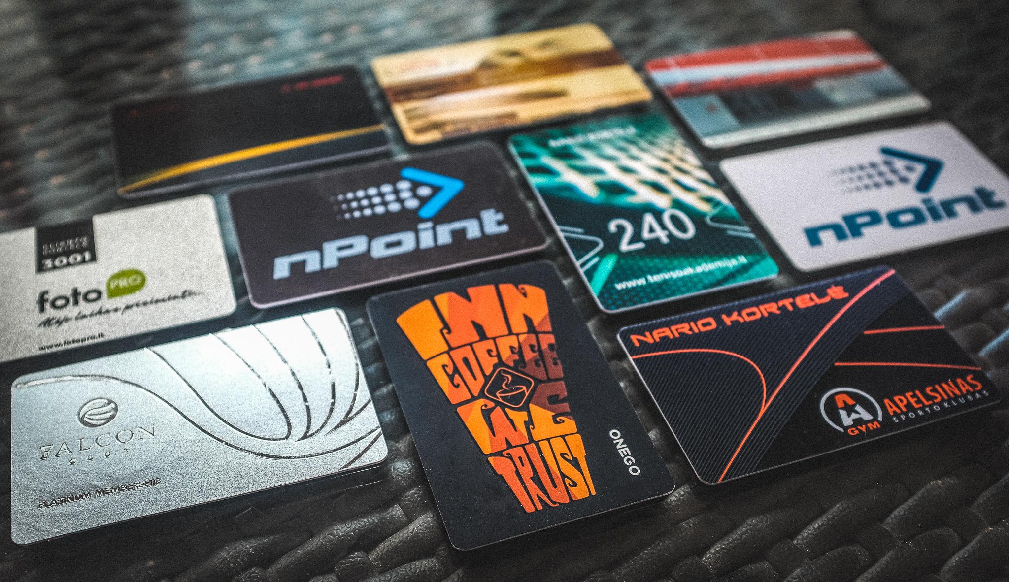 Lojalumo kortelių gamyba